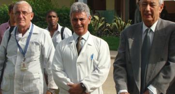 Salvador Gonzales Pal (neurólogo), Pérez Milán (psiquiatra) y Ricardo Gonzales Menéndez (psiquiatra)