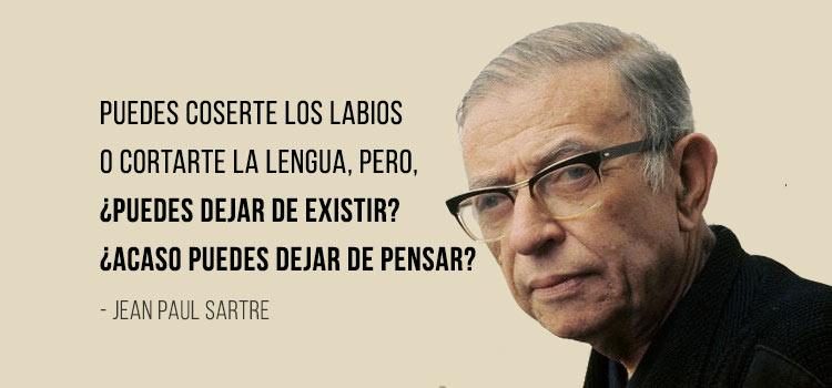 Frase Jean Paul Sartre | Libertad-sarteana