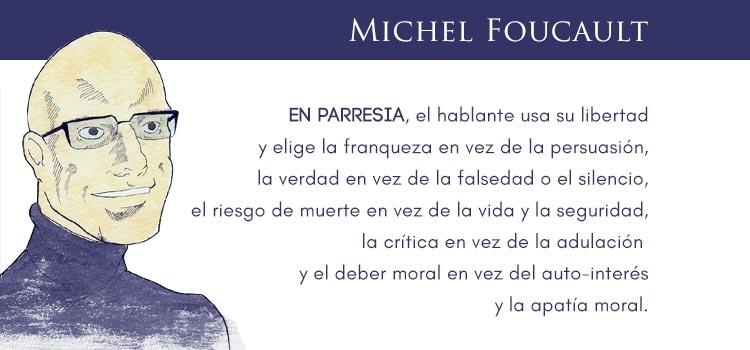 Frase Michel Foucault - Psicoanálisis y parresía