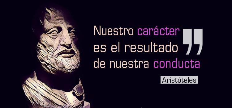 Frase de Aristóteles sobre el carácter y la conducta